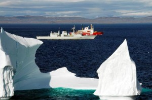 HMCS Toronto  and CCGS PIerre Radisson in Frobisher Bay during Operation Nanook